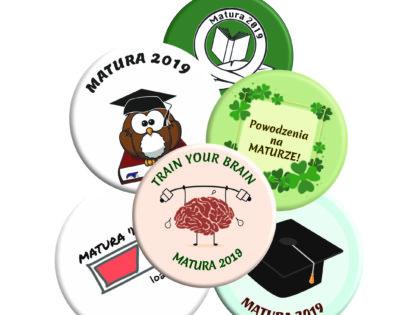 Przypinki na maturę dla Absolwentów Szkoły