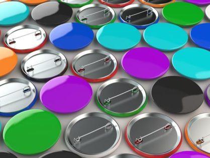 Przypinki reklamowe - buttony na zamówienie